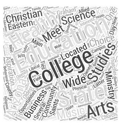 Arizona college word cloud concept vector