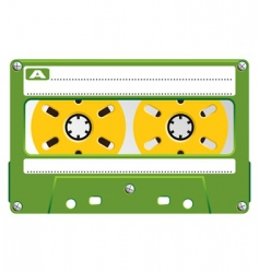 audio cassette transparent box vector image vector image