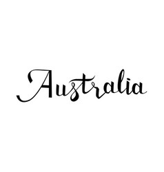 Australia lettering and calligraphy vector