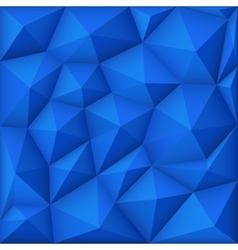 Blue mosaic polygon triangular background vector
