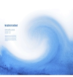 Blue watercolor background sea wave vector image vector image
