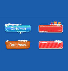 Christmas big sale glossy web push buttons in snow vector