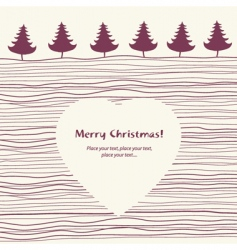 Christmas card copy-space vector image