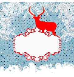 Christmas card with deer eps 8 vector