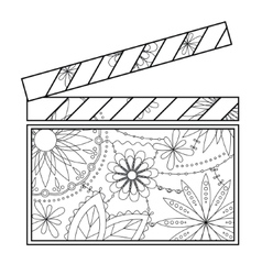 Clapperboard coloring vector image vector image