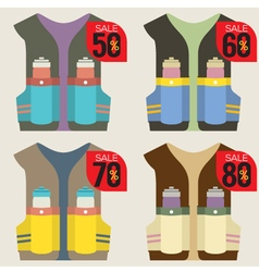 Colorful hydration vest on sale vector