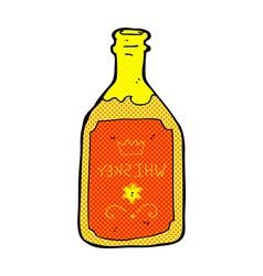 Comic cartoon whiskey bottle vector