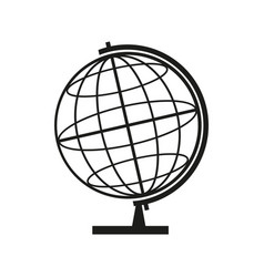 globe sign black icon on vector image vector image