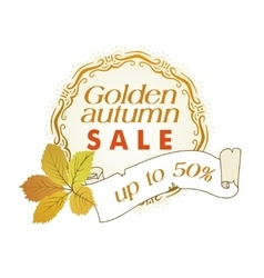golden autumn sale vector image vector image