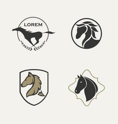 horse logo set vector image vector image