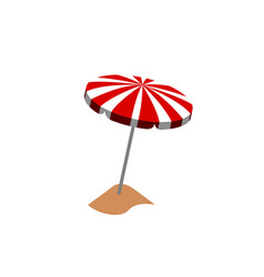isolated summer object vector image