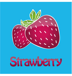 Juicy strawberry logo vector