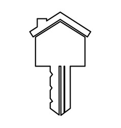 Key house silhouette isolated icon vector