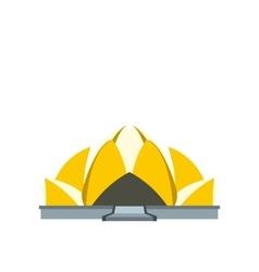 Lotus temple new delhi icon flat style vector