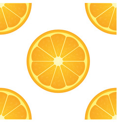 Orange citrus fruit healthy vegan food seamless vector