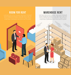 Real estate agency horizontal banners vector