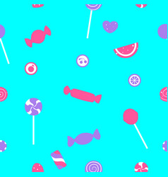 Seamless pattern candy vector