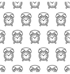 seamless pattern from clock alarm icon black vector image vector image
