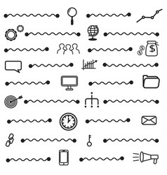 simple seo icons set basic seo elements texture vector image vector image