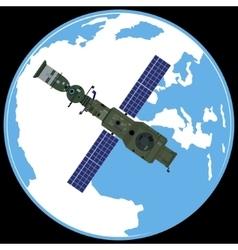 Soviet orbital station salute-4 vector