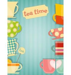 Tea card vector
