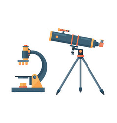 telescope for astronomy science space discovery vector image vector image