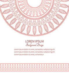 Template cards with pattern ancient egypt vector