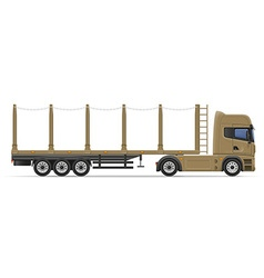 Truck semi trailer 11 vector