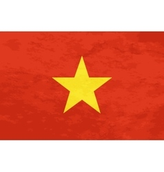 True proportions Vietnam flag with texture vector image