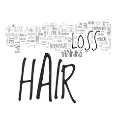 What is hormonal hair loss can it be controlled vector