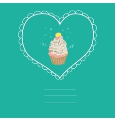 with the image of a cake in a frame vector image vector image