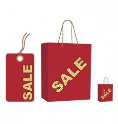 sale bag and tag set vector image