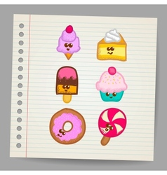 Sweets - doodles collection vector