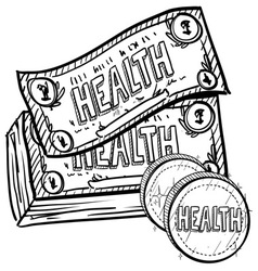 Health is wealth vector image