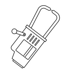 welding equipment icon outline vector image