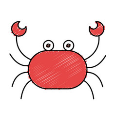Cute crab isolated icon vector