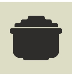 Stylized shiny cartoon pot of gold vector