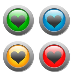 Heart icons buttons vector