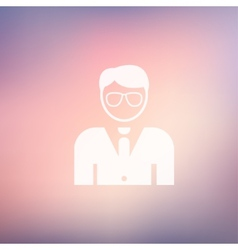 Young handsome man in flat style icon vector