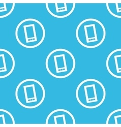 Smartphone sign blue pattern vector