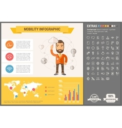 Mobility flat design infographic template vector