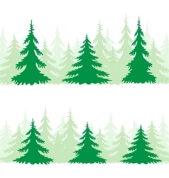 The spruce silhouette vector