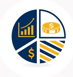 Business infographic icon vector
