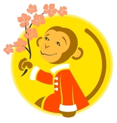 Chinese new year monkey symbol of 2016 year vector