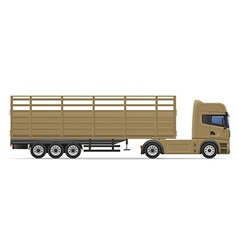 Truck semi trailer 12 vector