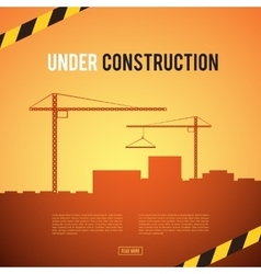 Building under construction site vector