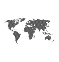 Halftone world map continents for your vector