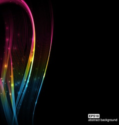 Abstract futuristic colorfull waves background vector image