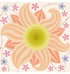 Big flower pattern vintage vector