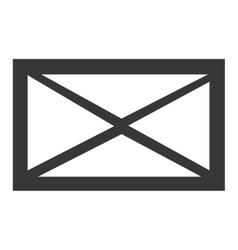 black and white mail envelope graphic vector image vector image